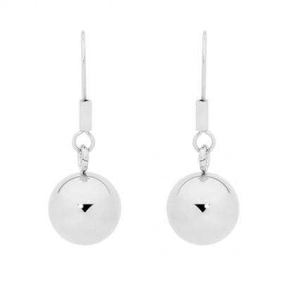 S/Steel Ball Drop Earrings_0