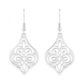S/Steel Filigree Drop Earrings_0