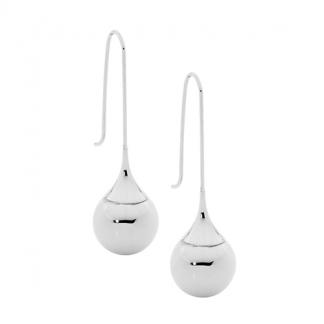 S/Steel Long Drop Earrings & a Ball_0