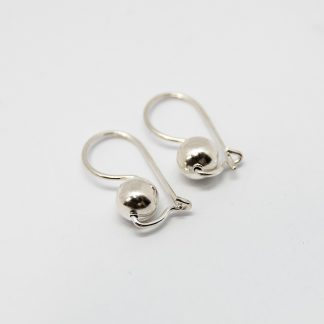 Stg Euro Ball 6mm Drop Earrings_0