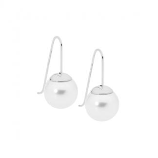 S/Steel Drop Earrings with Shell Pearl_0