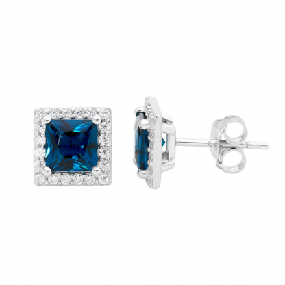 STG Blue Princess CZ Earrings_0