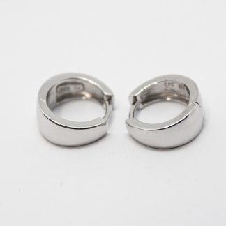 Stg/silver Huggie Earring_0
