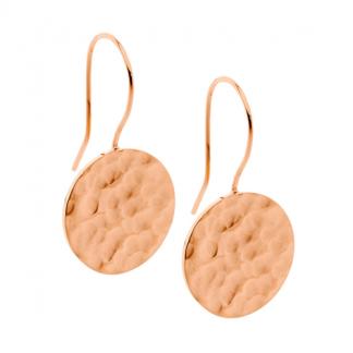 S/Steel Rose Gold Drop Earrings_0