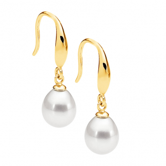 STG Pearl Earring with Gold Plating_0