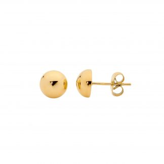 S/Steel Domed Studs w/ IP Gold Plating_0