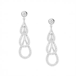 Stg CZ Drop Earrings_0