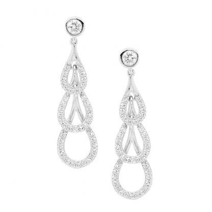 Stg CZ Drop Earrings_1