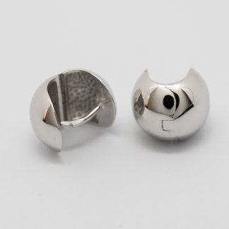 Stg/silver Hinged Huggie Earring_0