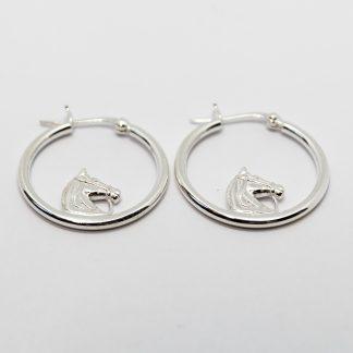 Stg/silver Hoop Earring_0