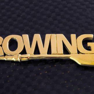 """Bronze """"Rowing"""" Key Ring_0"""