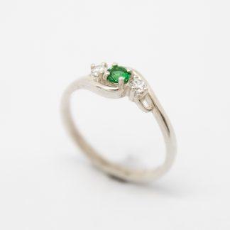 Srg/silver CZ Birthstone Ring (May)_0