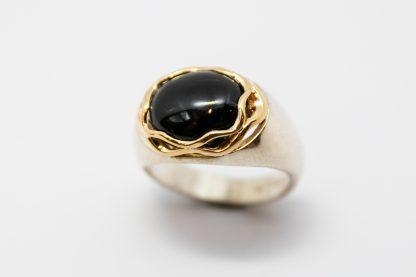Stg 9ct Black Onyx Dress Ring_0