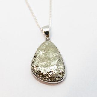 Stg/silver Rough Pyrite Pendant_0