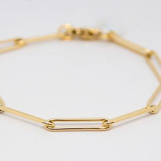 9ct Yellow Gold Paperlink Bracelet_0