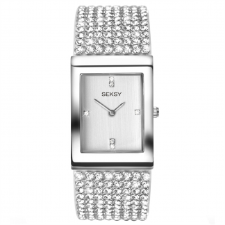 Silver Square Watch_0