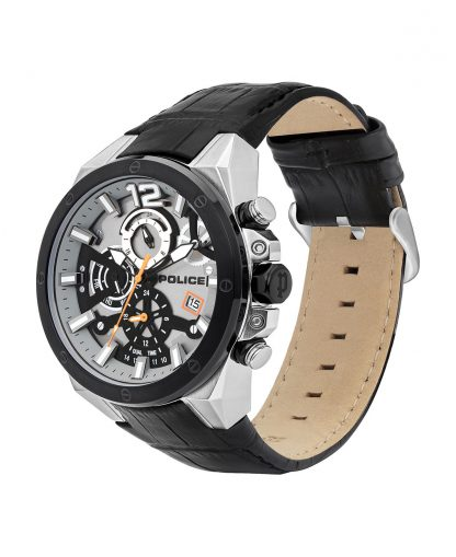 Police Saiho Silver Dial Watch_0