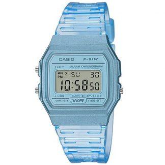 Casio Digital Watch W/R, Chrono, Alarm Blue Trans Case & Strap_0