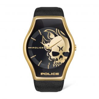 Police Watch Black & Gold Skull Dial_0