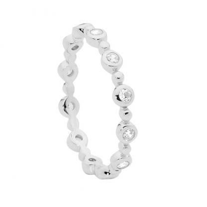Stg/silver CZ Stacker Ring_0