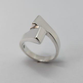 Stg Double Sided Horseshoe Nail ring_0