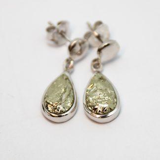 Stg/silver Pyrite Earrings_0