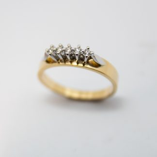 9ct 5 Stone Diamond Ring_0