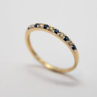 9ct Sapphire and Diamond Ring_0