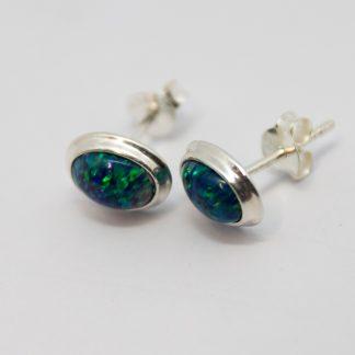 Stg Manufactured Opal Earring_0