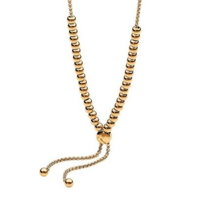 Ellani Gold Plated Ball Necklace_0