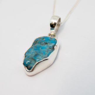 Stg/silver Turquoise Pendant_0