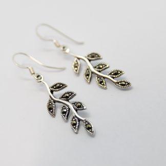 Stg/silver Marcasite Earrings_0