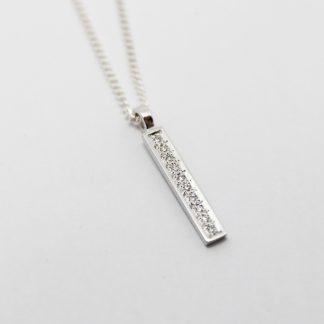 9ct White Gold Diamond Set Pendant_0