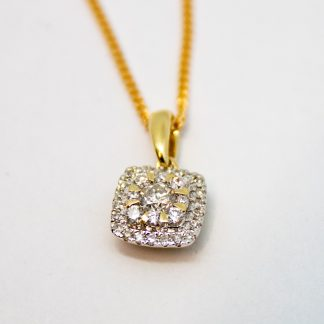 9ct Diamond Pendant_0