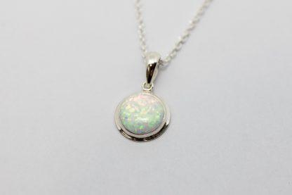 Stg White Opal Pendant_0