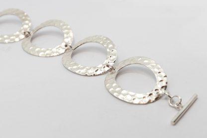 Stg Oval Hammered Bracele_0
