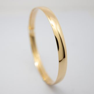 9ct 7mm Wide Gold Bangle_0