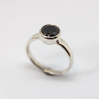Stg 7mm Black CZ Bubble Ring_0