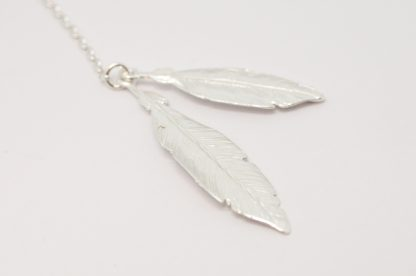 Stg/silver Feather Necklace_0