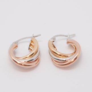 Twist Hoop Earrings_0