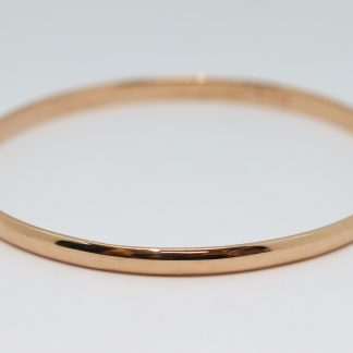 9ct Rose Gold Bangle Size 8 4.4 x 1.7mm_0