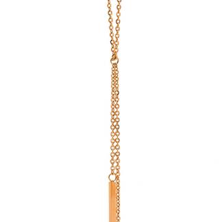 Ellani Rose Gold Plate Necklace_0