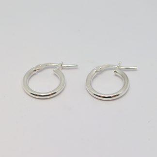 Stg/silver Hoop Earrings_0