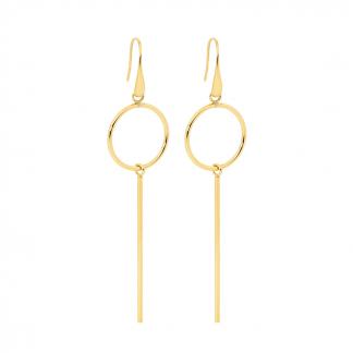Ellani Gold Plate Drop Earrings_0