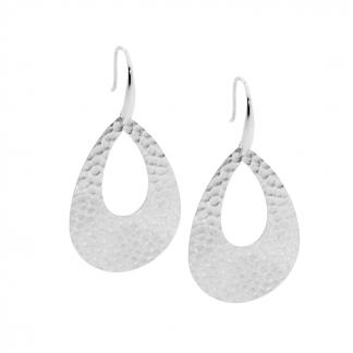 Ellani Hammered Drop Earrings_0