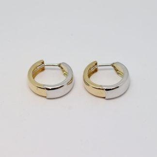 9ct 2-tone Hoop Earrings_0